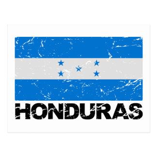 Bandera del vintage de Honduras Tarjeta Postal