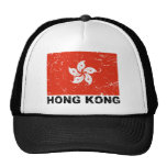 Bandera del vintage de Hong Kong Gorras