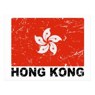 Bandera del vintage de Hong Kong Tarjeta Postal