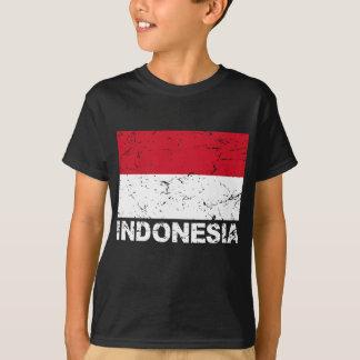 Bandera del vintage de Indonesia Playera