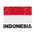 Bandera del vintage de Indonesia Postales
