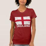 Bandera del vintage de Inglaterra Camisetas