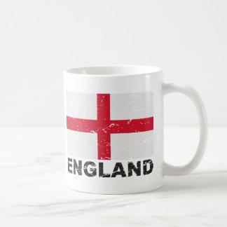 Bandera del vintage de Inglaterra Taza Clásica