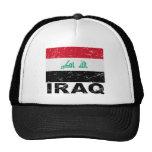 Bandera del vintage de Iraq Gorra
