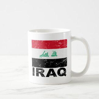 Bandera del vintage de Iraq Taza De Café