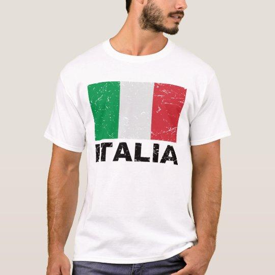 Bandera del vintage de Italia Playera