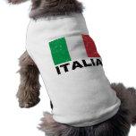 Bandera del vintage de Italia Playera Sin Mangas Para Perro