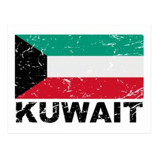 Bandera del vintage de Kuwait Tarjetas Postales