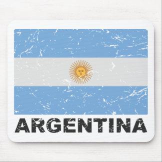 Bandera del vintage de la Argentina Alfombrillas De Ratones
