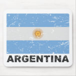 Bandera del vintage de la Argentina Tapetes De Ratón