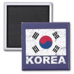 Bandera del vintage de la Corea del Sur Iman Para Frigorífico