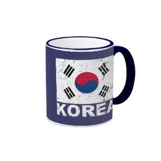 Bandera del vintage de la Corea del Sur Taza De Dos Colores