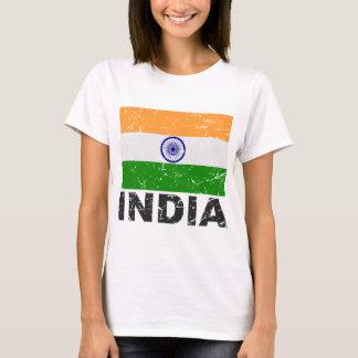 Bandera del vintage de la India Playera