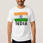 Bandera del vintage de la India Playeras