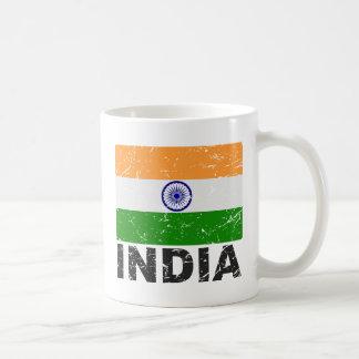 Bandera del vintage de la India Taza