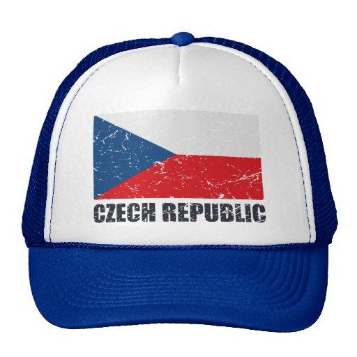 Bandera del vintage de la República Checa Gorros