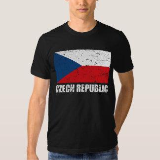 Bandera del vintage de la República Checa Remera