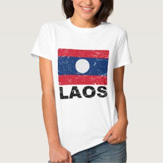 Bandera del vintage de Laos Polera