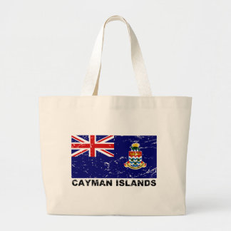 Bandera del vintage de las Islas Caimán Bolsa Tela Grande