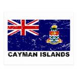 Bandera del vintage de las Islas Caimán Tarjeta Postal