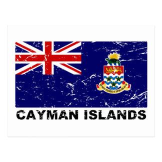 Bandera del vintage de las Islas Caimán Tarjetas Postales
