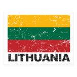 Bandera del vintage de Lituania Postales