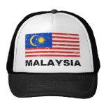 Bandera del vintage de Malasia Gorro