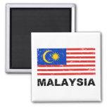 Bandera del vintage de Malasia Imán Cuadrado