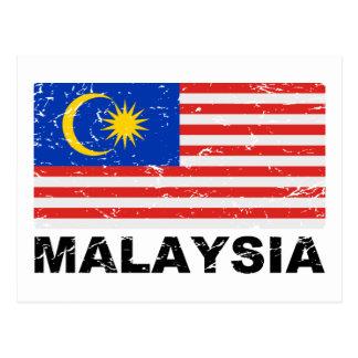 Bandera del vintage de Malasia Postales
