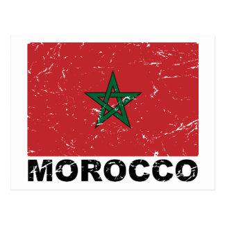 Bandera del vintage de Marruecos Postal