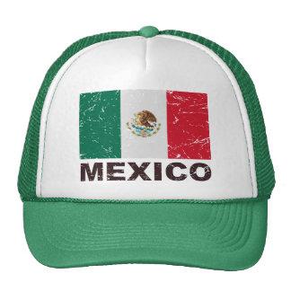 Bandera del vintage de México Gorro De Camionero
