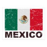 Bandera del vintage de México Postal