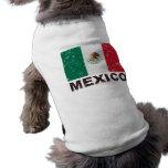 Bandera del vintage de México Playera Sin Mangas Para Perro