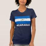 Bandera del vintage de Nicaragua Playera