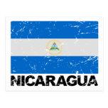 Bandera del vintage de Nicaragua Postal