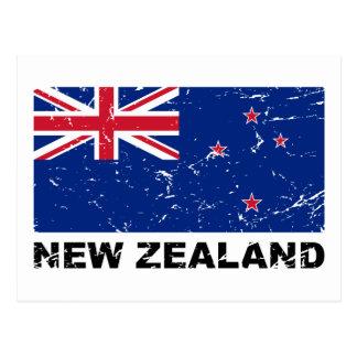 Bandera del vintage de Nueva Zelanda Postal