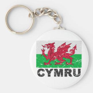 Bandera del vintage de País de Gales CYMRU Llavero Personalizado
