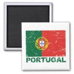 Bandera del vintage de Portugal Imán De Nevera