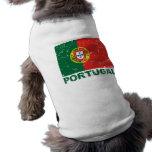Bandera del vintage de Portugal Playera Sin Mangas Para Perro