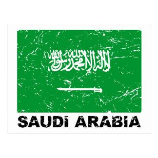 Bandera del vintage de Saudia Arabia Tarjetas Postales
