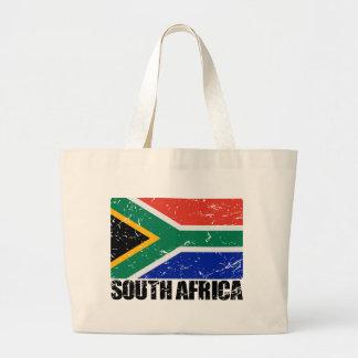 Bandera del vintage de Suráfrica Bolsas Lienzo