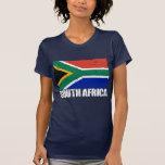 Bandera del vintage de Suráfrica Camisetas