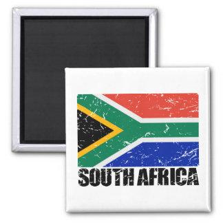 Bandera del vintage de Suráfrica Imán Cuadrado