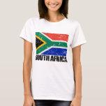 Bandera del vintage de Suráfrica Playera