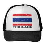 Bandera del vintage de Tailandia Gorros Bordados