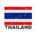 Bandera del vintage de Tailandia Tarjeta Postal
