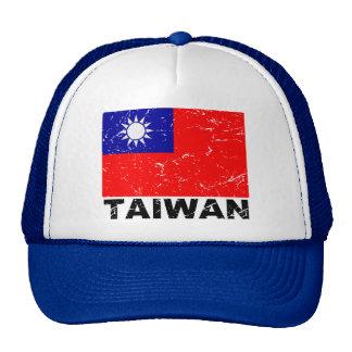 Bandera del vintage de Taiwán Gorro De Camionero