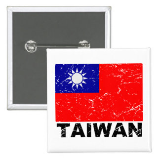 Bandera del vintage de Taiwán Pins