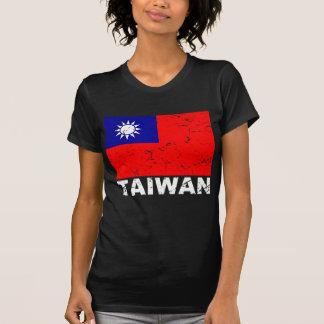 Bandera del vintage de Taiwán Camiseta