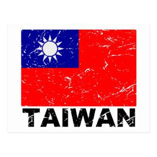 Bandera del vintage de Taiwán Postal